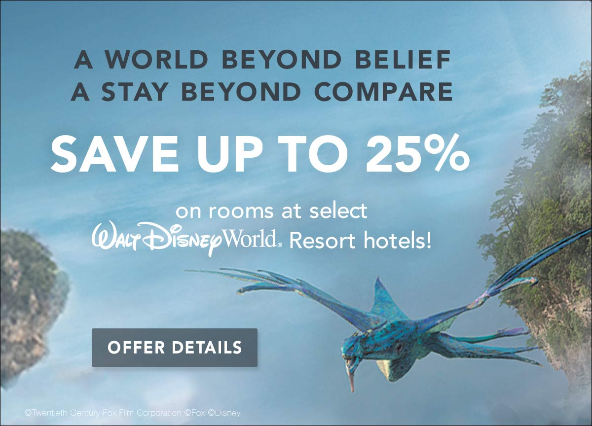 Let's go to Disney and save 25%!