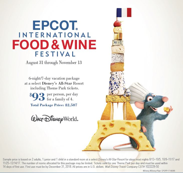 Enjoy Food and Wine from Around the world at EPCOT!