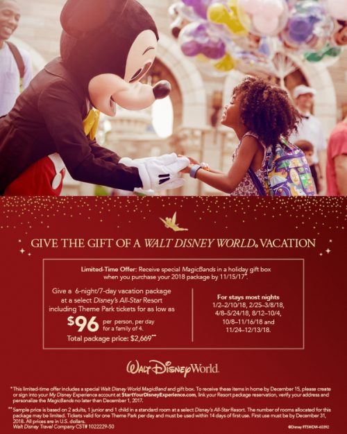 Give the Gift of a Walt Disney World Vacation!