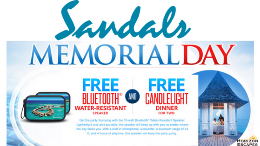 Sandals Memorial Day Sale!